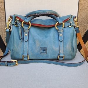 Dooney and Bourke Dusty Blue Florentine Satchel